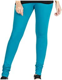 KYRA BEST SELLER PREMIUM COTTON CHURIDAR LEGGINGS FOR WOMEN IN FREE SIZE SUITABLE FOR WAIST 28 TO 40 INCHES