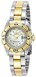 Invicta Pro Diver Women's Analogue Classic Quartz Watch With Stainless Steel Gold Plated Bracelet – 6895