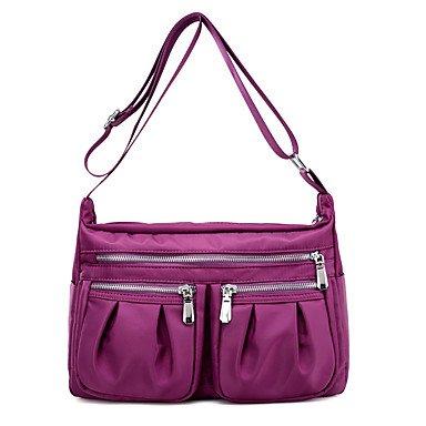 SUNNY KEY-Borsa a tracolla @ Donna Borsa a tracolla Nylon Per tutte le stagioni Baguette Cerniera Blu Nero Viola , purple black