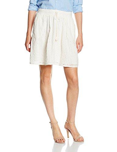 TOM TAILOR Denim Hole Embroidered Mini Skirt, Gonna Donna Avorio (off white 8005)