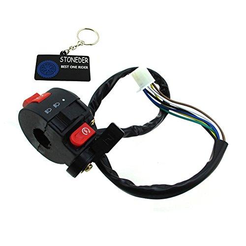 Quad-licht-schalter (stoneder 3Funktion 7Draht Griff Kill Start Licht Choke Schalter für 50cc 70cc 90cc 110cc 125cc ATV Quad TAOTAO SunL ROKETA Kazuma -)