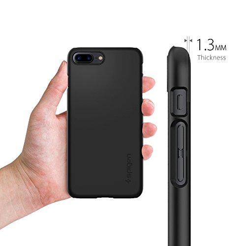 Coque iPhone 7 Plus, Spigen® [Thin Fit] Exact-Fit [Crystal Clear] Premium transparent Hard Housse Etui Coque Pour iPhone 7 Plus (2016) - (043CS20935) TF Noir