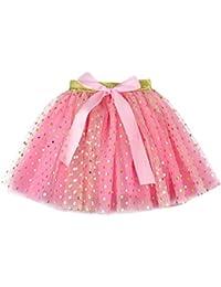 9666c8b744e02 Innerternet Enfants Fille Tulle Irrégulier Pettiskirt Princesse Tutu Jupe À  Niveaux De Danse Rétro 50s Style