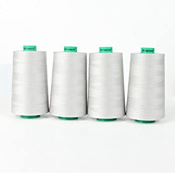 a N/ähgarn 2743 m 100/% Polyester N/ähmaschinen Garn 2962 N/ähfaden NE 40//2 grau hell 4 St/ück Spulen Overlock