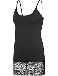 weiß schwarz grau 100/% Baumwolle 36-58 Spaghetti Top 100/% Baumwolle 2er Pack