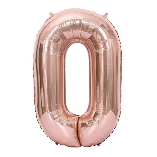 Vovotrade Zahlenballon mit Zahl 0-9 Latexballon Riesenzahl Luftballon Folienballon Baby Dusche Party Kindergeburtstag Deko 40 Zoll Riese Helium Folie Nummer 0-9 Roségold Ballon (Tinkerbell Auto Zubehör)
