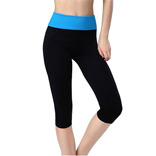 Glield Pantalons de sport Femme 3/4 Joggings leggings YGK03 blue