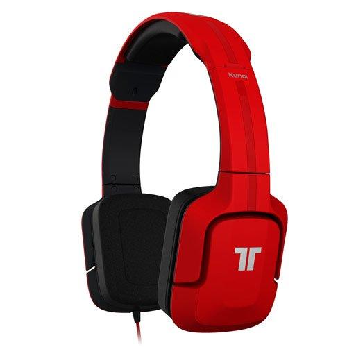 Tritton Kunai - Auriculares de diadema cerrados (con micrófono), rojo