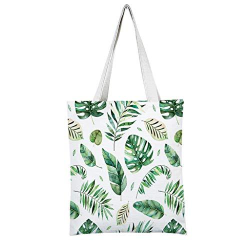 Fendiy_handbag Fendi-Blatt-Druck-Leinwand-Einkaufstasche, große Kapazitäts-Einkaufstaschen für Lebensmittelgeschäfte