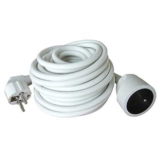 Zenitech - Prolongateur 16A 2P+T HO5VV-F 3G1,5mm² Blanc 10m