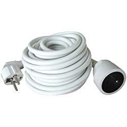 Prolongateur 16A 2P+T HO5VV-F 3G1,5mm² Blanc 10m