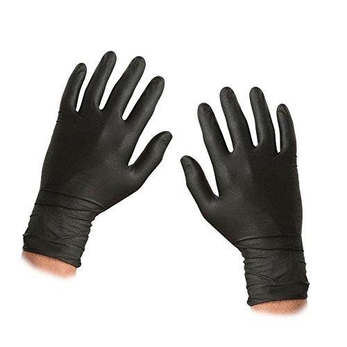 Preisvergleich Produktbild ASC schwarz Nitril Einweg-Handschuhe–Größe XL–Texturierte–Pulver und Latex frei–100Handschuhe (50Paar)
