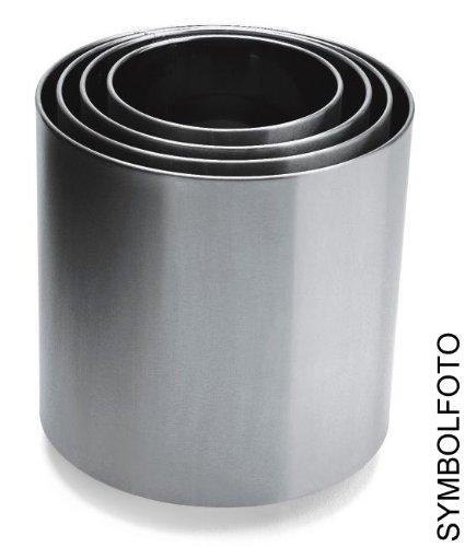Graepel G de Line Pro Naxos en acier inoxydable poli 1.4016, 6 tailles, pots de fleurs taille GRAEPEL : B 25 x H 25 - L 12