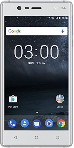 Nokia 3 DUAL SIM Smartphone - VERSION 2017 deutsche Ware (12,7 cm (5 Zoll), 8MP Hauptkamera, 8MP Frontkamera, 2GB RAM, 16GB interner Speicher, MP3 Player, Android 8.0 Oreo) silber weiß