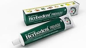 "Dr. Jaikaran's Herbodent Premium Herbal Toothpaste- ""Herbal Way to Dental Care & Natural Oral Hygiene ""100g (2)"