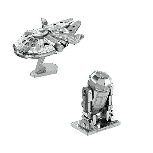 Metal Earth Fascinations Star Wars Millennium Falcon und R2-D2 3d Metall Puzzle, Konstruktionsspielzeug, Lasergeschnittenes Modell (Metall Starwars Modell)
