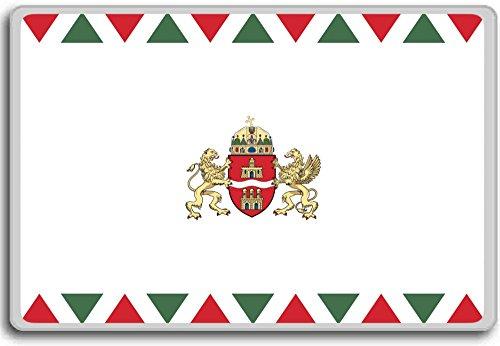 Preisvergleich Produktbild Hungary,  Budapest city flag fridge magnet - Kühlschrankmagnet