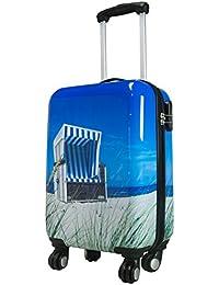 Koffer Strandkorb Größe M Carbon / Polycarbonat Hartschale Reisekoffer Trolley Case Fa. Bowatex