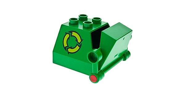 1 x Lego Duplo Müll Container grün Recycling Müllabfuhr Fahrzeug 2247c01pb01