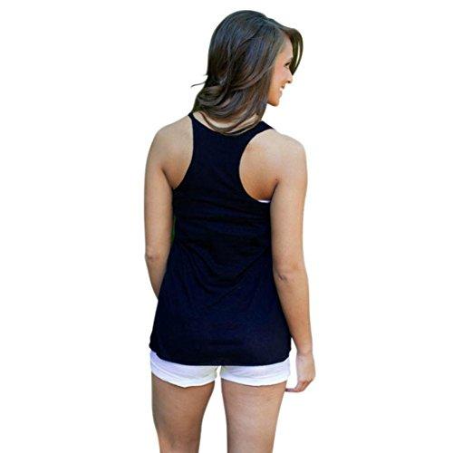Tonsee Nouvelle arrivée! Licol Sexy gilet femme T-shirt imprimé avec des feuilles Feuilles