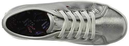 Tommy Hilfiger Mädchen S3285ammie 21z Sneakers Silber (Argento)