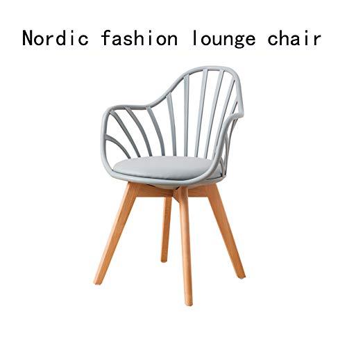 Nordic Stuhl Mode Lässig Balkon Stuhl Grau Weiß Schwarz Kunststoff Stuhl Studie Einfachen Einzigen...