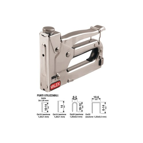 Valex 1455528, graffatrice e chiodatrice manuale per chiodi fino a 14 mm e graffe da 6 a 14 mm