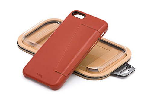 Bellroy iPhone 8 / 7 Phone Case - 3 Card aus Leder, Farbe: Black Tamarillo