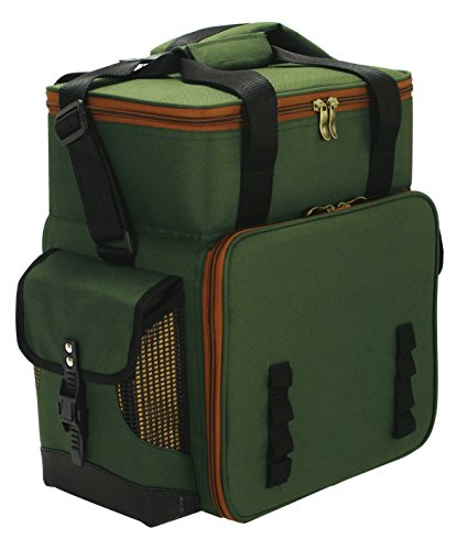 Boxentasche für Angelzubehör Size L 42x21x39 cm olivgrün