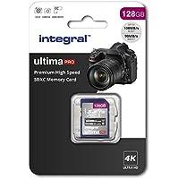 Integral 128GB SD Card 4K Ultra-HD Video Premium High Speed Memory Card SDXC Up To 100MB/S V30 UHS-I U3 C10