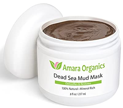 Dead Sea Mud Mask for Face & Body, Pure Mud with No Fillers - 237 ml from Amara Organics