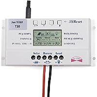 Sun YOBA LCD 40 A, 10 A, 20 A e 30 A 12 V/24 V, batteria del pannello solare Regolatore di carica per Controller 3-time 30A 12V/24V