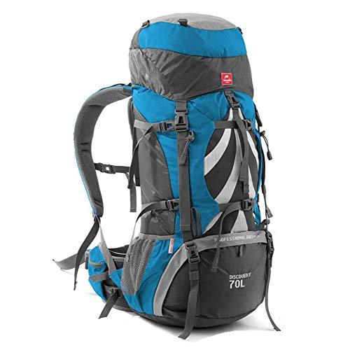 Rucksack wandern 70Lhiking Reiserucksack, Outdoor Beruf Bergsteigen Reiten Große Kapazität Camping Rucksack, Orange (Farbe : Blau)