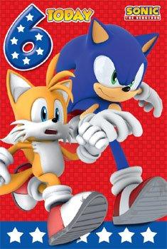 Sonic The Erizo Edad 6 Cumpleaños Tarjetas Baulofertas Com