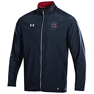 Under Armour Charger NCAA Men's Field Sideline Full-Zip Warm-Up Jacket, Black, XX-Large