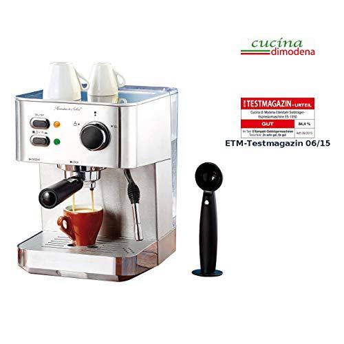 Cucina di Modena Siebträgermaschine: Edelstahl Siebträger-Espressomaschine ES-1050, 1.050 Watt, 15 bar (Espresso Siebträger)