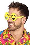 Wilbers Kostüm Zubehör Brille lachender Emoji Karneval Fasching Party