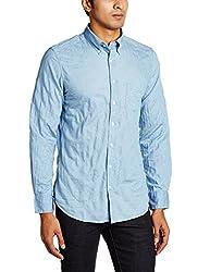 Gant Mens Casual Shirt (8907259491028_GMSIF0083_Large_Light Indigo)