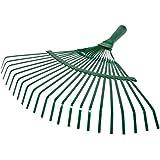 Beorol-Garden leaf rake metal with wooden handle (lamella teeth)
