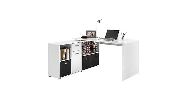 Générique zito bureau angle reversible 136x137cm blanc: amazon.fr