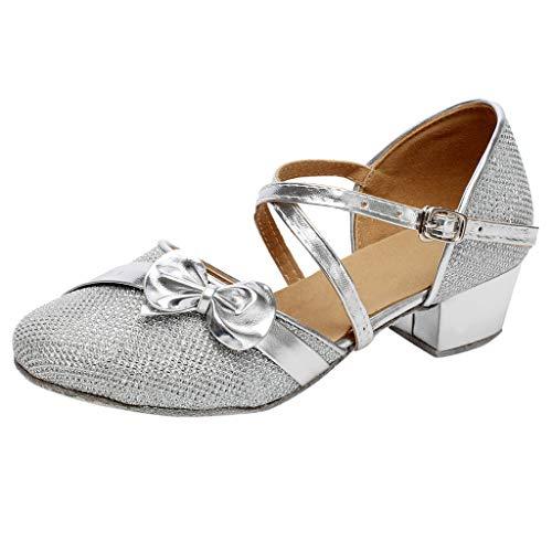 Zapatos Niña Princesa - Talla 24-35 - Zapatos Tacon de Fiesta - Disfraz Sandalias de Vestir - Zapatos...