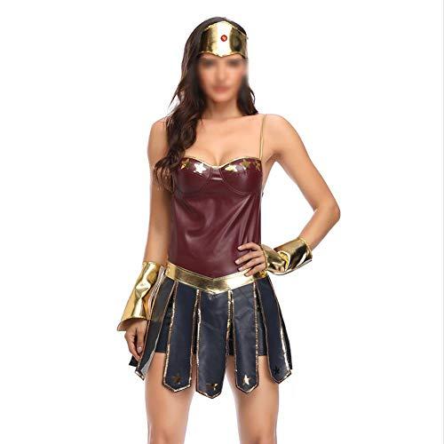 , Halloween Anime Spiel Cosplay Kleidung, Kopfbedeckung + Kleid + Armband Bühne Kleidung - Heroine-1-M ()