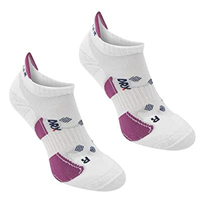 Karrimor 2 Pack Running Socks Ladies Size 4-8 x 11 Colours (White/Berry)