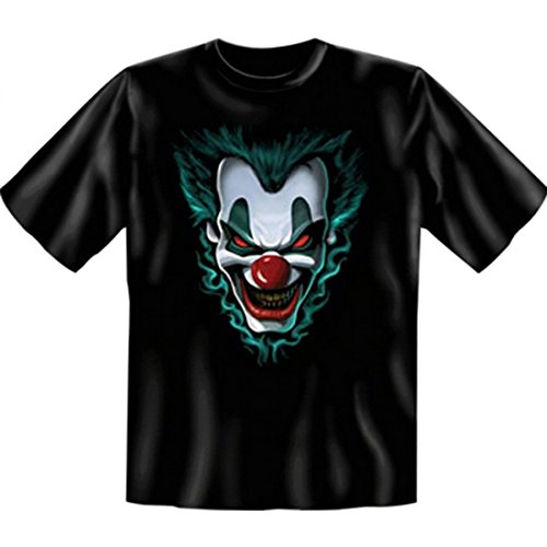 Kostüm Gänsehaut - Goodman Design ® Geiles T-Shirt mit Aufdruck - Joker - Freakshow - Horror Grusel Gänsehaut Verkleidung Kostüm Halloween Party Geschenk, Größe:XXL