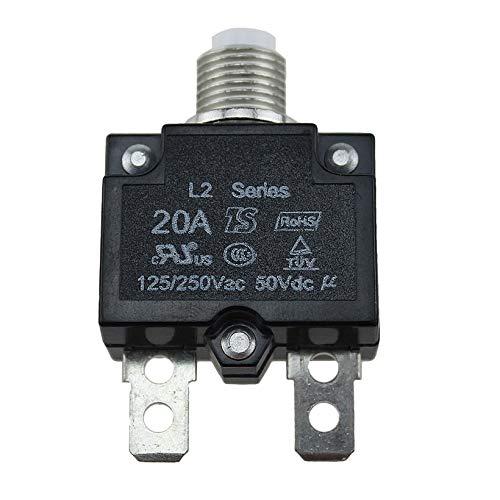 JICHUIO 5A / 10A / 15A / 20A / 30A Push Button Rückstellbare Thermal Circuit Breaker Plattenmontage -
