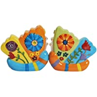 Stealstreet Two Butterflies Collectible Salt and Pepper Tabletop Shakers