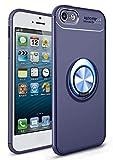 SORAKA Coque Transparente pour iPhone 6 Plus iPhone 6S Plus,avec Support de Bague rotative 360 Ajustement Mince Coque Transparente en TPU Compatible avec Le Support de téléphone de Voiture magnétique