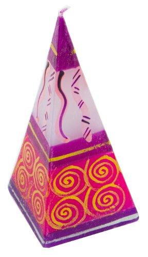 Nobunto Pyramidenkerze Marini handbemalt aus Afrika handgefertigte afrikanische Pyramide Kerze Pyramide Marine