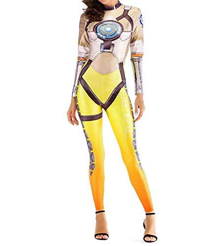 osplay Kostüm Halloween Kostüm Requisiten Bühnenkostüme Siamesische Strumpfhosen Film Surprise Captain Role Play,Yellow-M ()