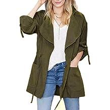 Minetom Otoño Chaqueta para mujer Abrigo Manga Larga con Capucha Coat Jacket